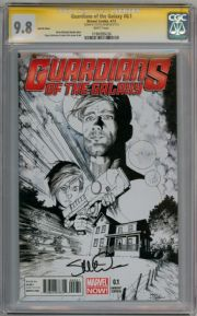 Guardians Of The Galaxy #0.1 Sketch Variant 1:100 CGC 9.8 Signature Series Signed Steve McNiven Marvel comic book
